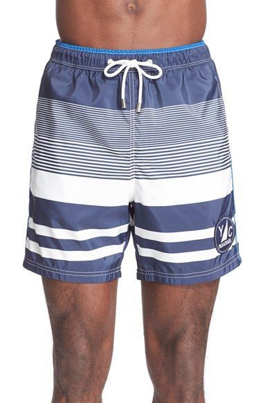 c3ec39a196 Paul & Shark Stripe Swim Trunks | Swim Shorts | Swim trunks, Paul ...