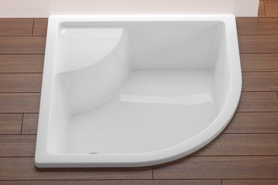 Bathroom Quadrant Acrylic Deep Shower Tray Can T Use Curved But This Is Nice Though It Would Be Impossible To Si Shower Tray Small Shower Room Small Bathtub