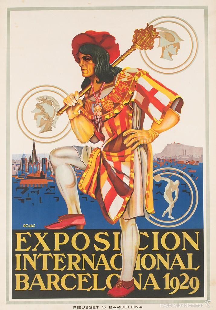 VENDO 6 CARTELES EXPOSICION INTERNACIONAL BARCELONA 1929 ORIGINAL - Foto 1