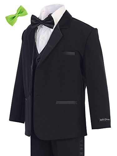 Bello Giovane Boys Black Tuxedo No Tail 6 Piece Set 2T-7 (Pick Free Bow Tie) (3T, Apple Green) Bello Giovane http://www.amazon.com/dp/B0192HTJEY/ref=cm_sw_r_pi_dp_tlPKwb1X2QR4B