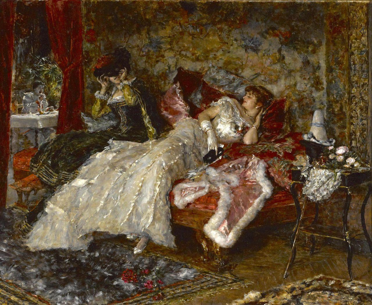 Eduardo León Garrido (1856 - 1949) - The masked ball