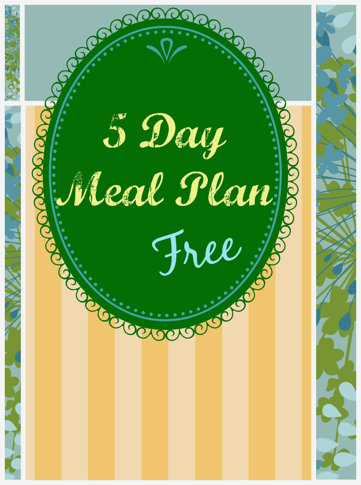 Free 5 Day Meal Plan With Shopping List