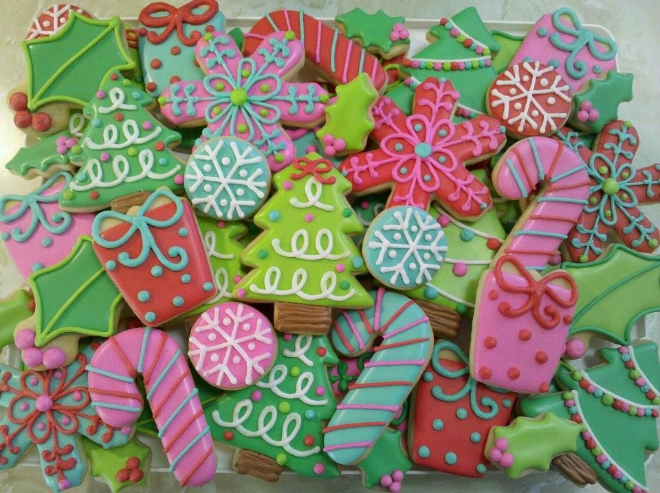 Colorful Christmas Cookies Cookie Connection Christmas