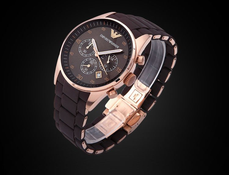 AR5890 / AR5891 Original Armani Watch For Men/Women New Trend Watch For Lovers Plastic Steel Rose Gold   Original Box