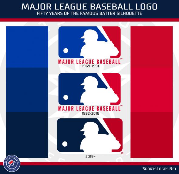 Mlb Updates Their Famous Batter Logo Colours And More Chris Creamer S Sportslogos Net News And Blog New Logos Major League Baseball Logo Mlb Logos League