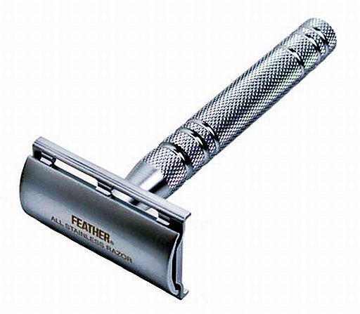 Feather All Stainless Double Edged Safety Razor Con Imagenes
