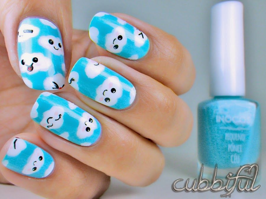Nail Art Week: Fluffy Clouds with Inocos Céu