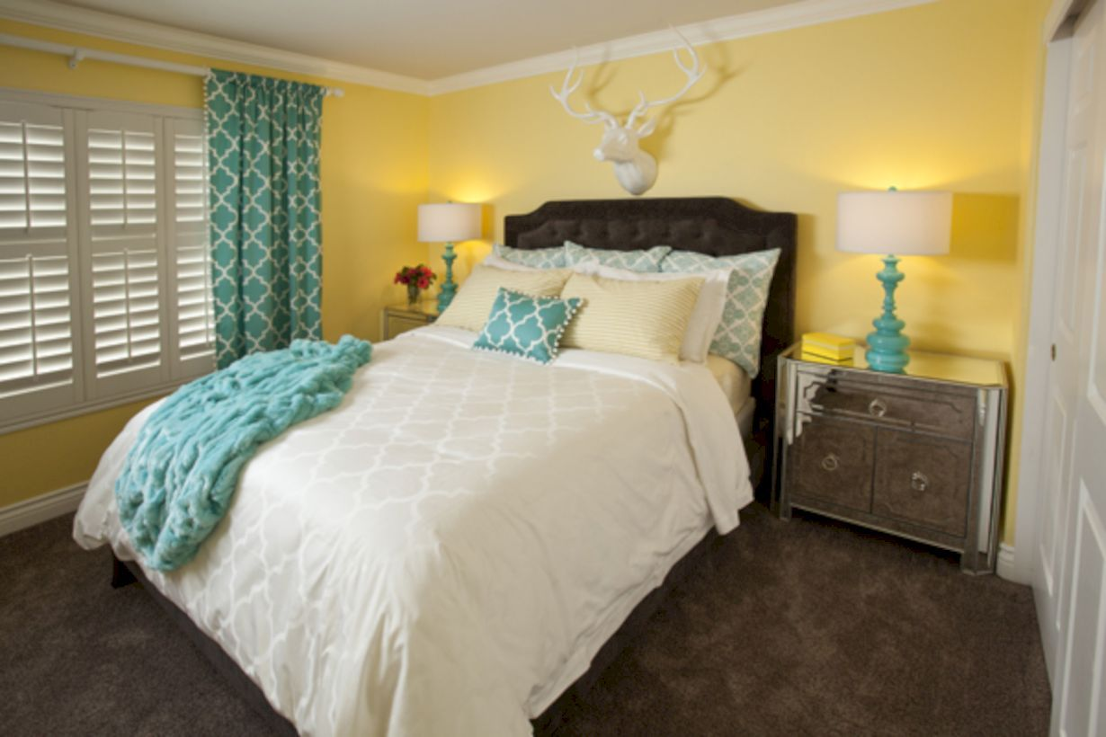 60 visually pleasant yellow and grey bedroom designs ideas