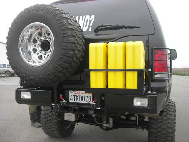 Front and rear heavy duty winch bumpers for Ford trucks by