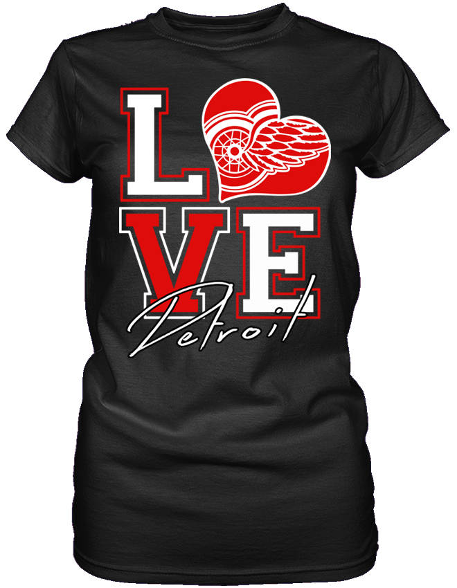 Love Red Wings Detroit red wings clothing, Detroit red