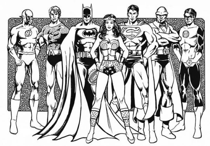 Free Justice League Printable Coloring Page