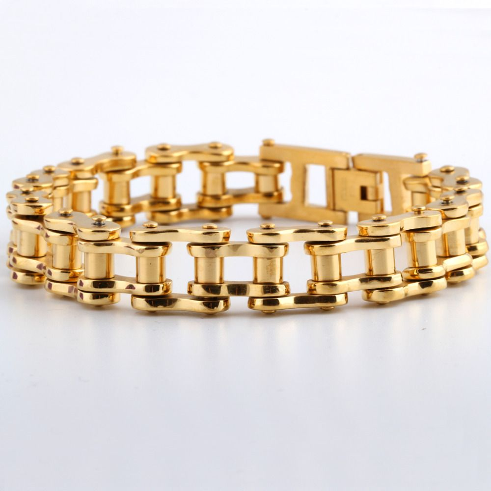 trendy new gold bracelet men jewelry coldcolor high quality
