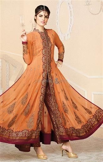 Designer indo western gown style dress for weddings wear at best price