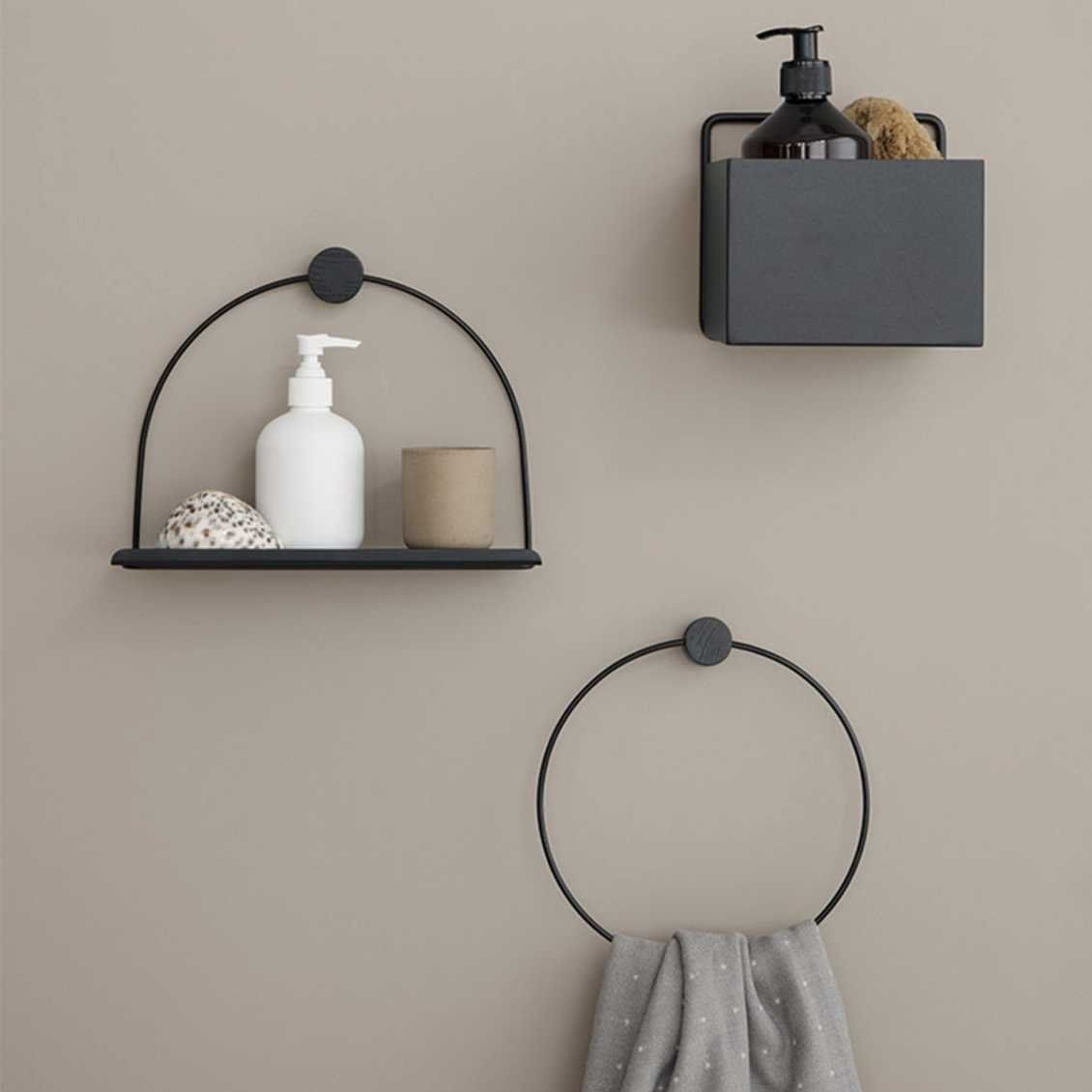 Black Towel Hanger Handdoek Hanger Ferm Living Misterdesign Wandregal Bad Badezimmer Schwarz Bad Styling