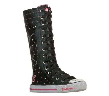 Skechers Girls Twinkle Toes Shuffles Star Keepers High Top