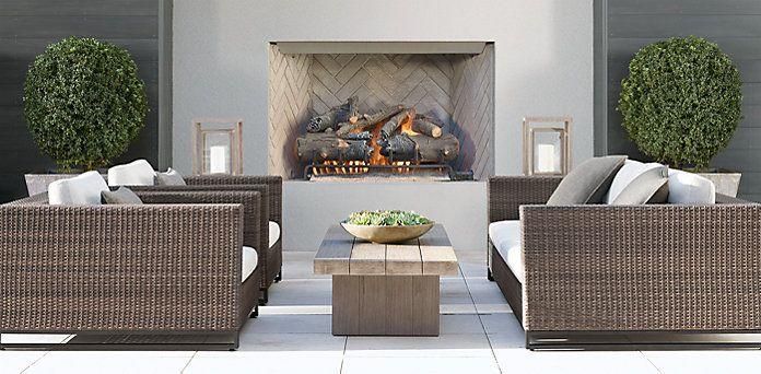 Tiburon Collection Grey Outdoor Furniture Cg Restoration Hardware Mobilier De Salon