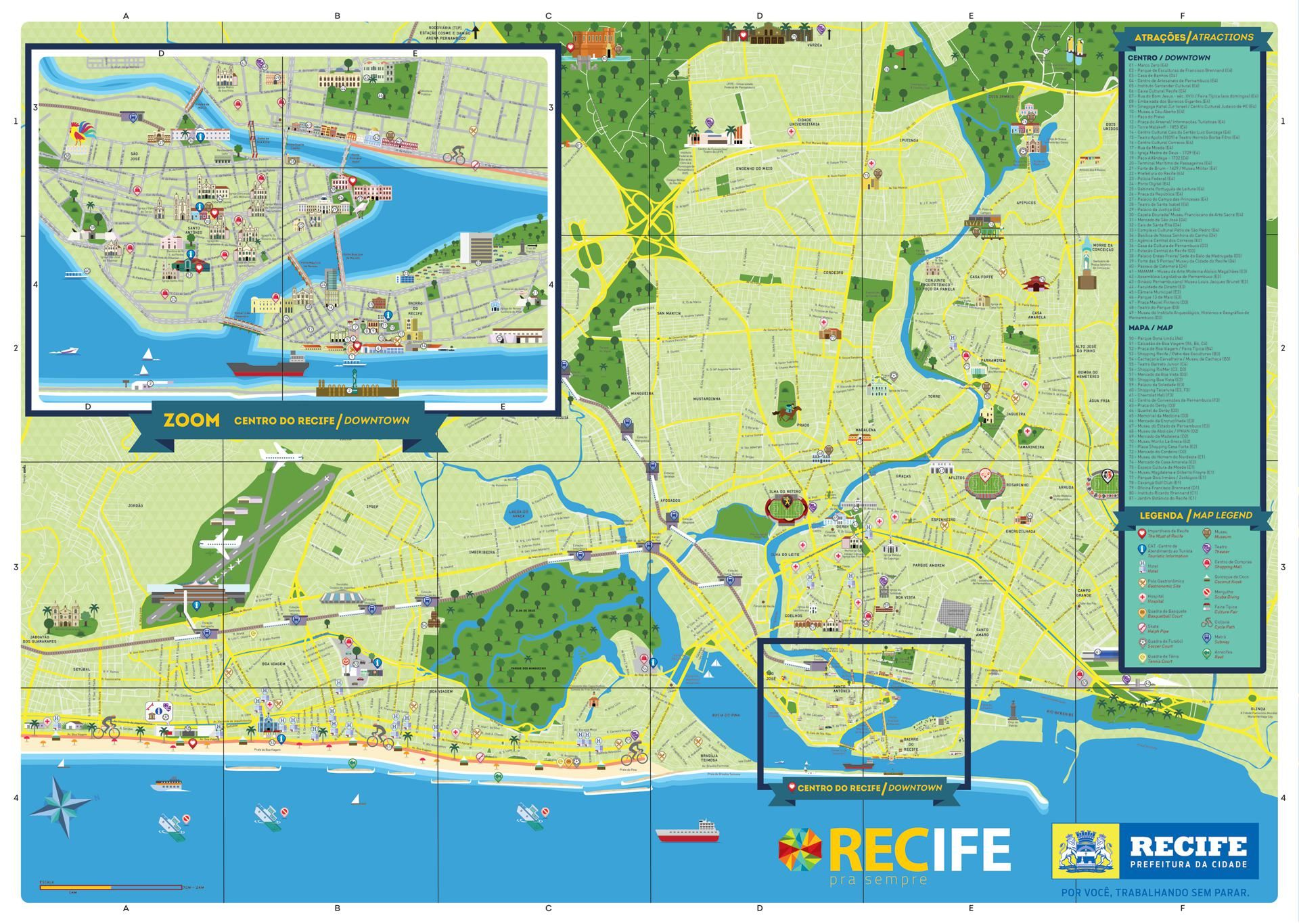 Mapa do Recife Map Design marcussoartbr marcussoartbr Maps