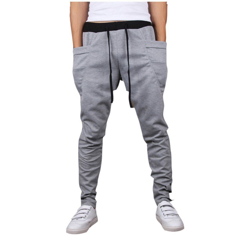 Shop Your Way MAX (2) Free Shipping Eligible (2) Free Shipping Eligible. Store Pickup & Delivery. edit Tell us where you are located and we can tell you what's available: Zxzy Male Harem Pants Casual Loose Low Drop Crotch Mens Elastic Waist Pants Mid-Waist Trousers. Sold by Nlife. $