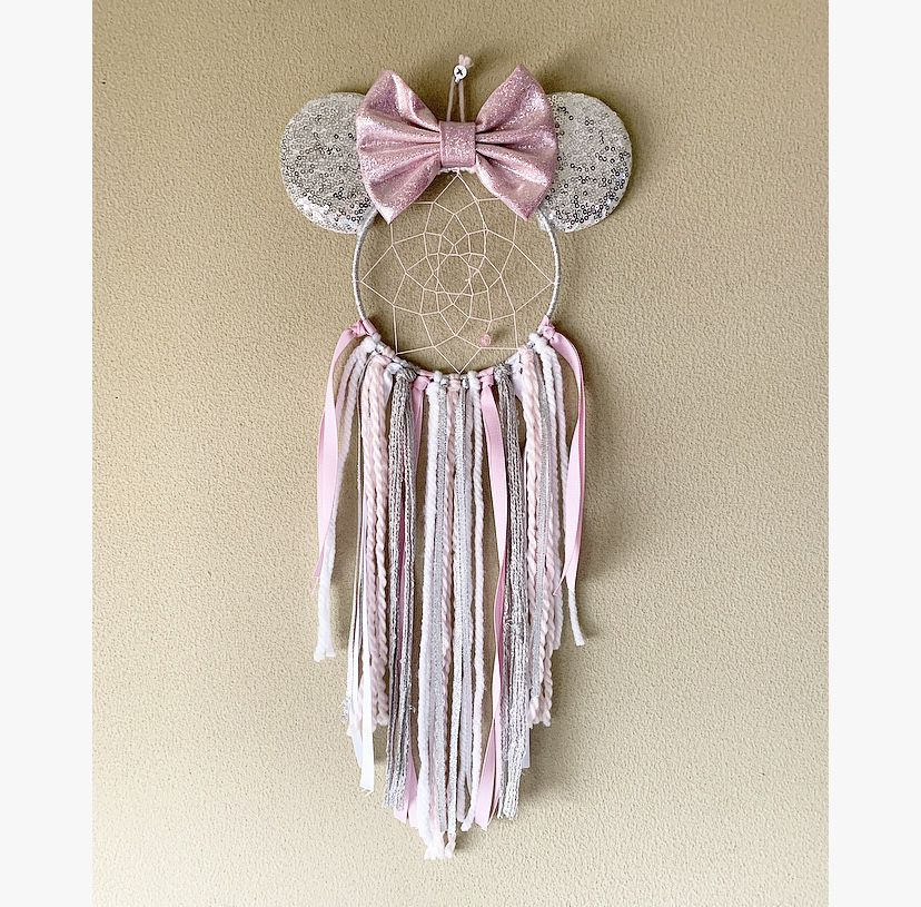 Photo of Minnie Inspired Dream Catcher, Minnie Mouse Inspired Decor, Nursery Decor