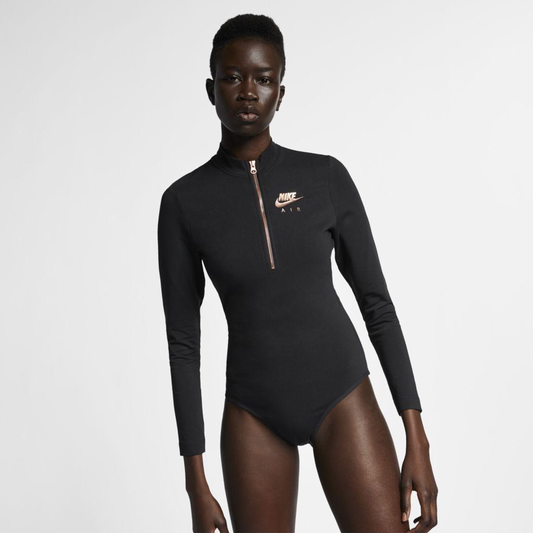 18e9c65c27 Nike Air Women's Long-Sleeve Metallic Bodysuit Size M (Black ...