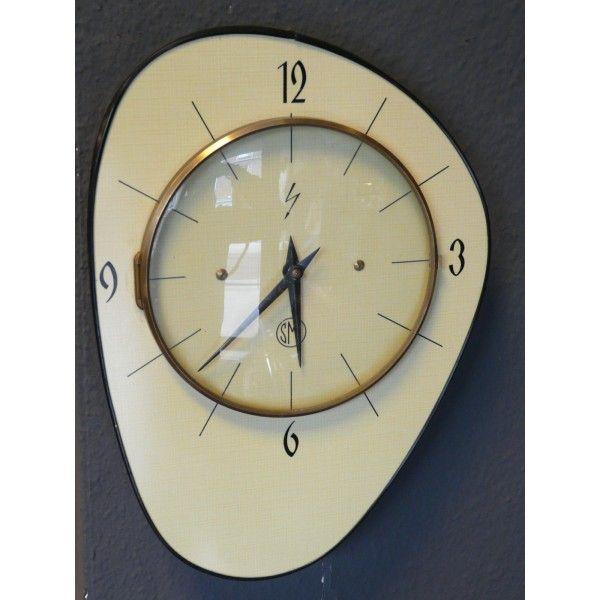 Accueil U003e OBJETS U003e Electro U003e Pendule Vintage Formica 60. Midcentury  ClocksCool ...