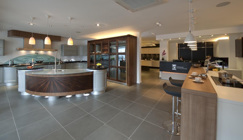 Marvelous Kitchen Magnificent Spacious Kitchen Wooden Countertop Round Interior Design Ideas Tzicisoteloinfo