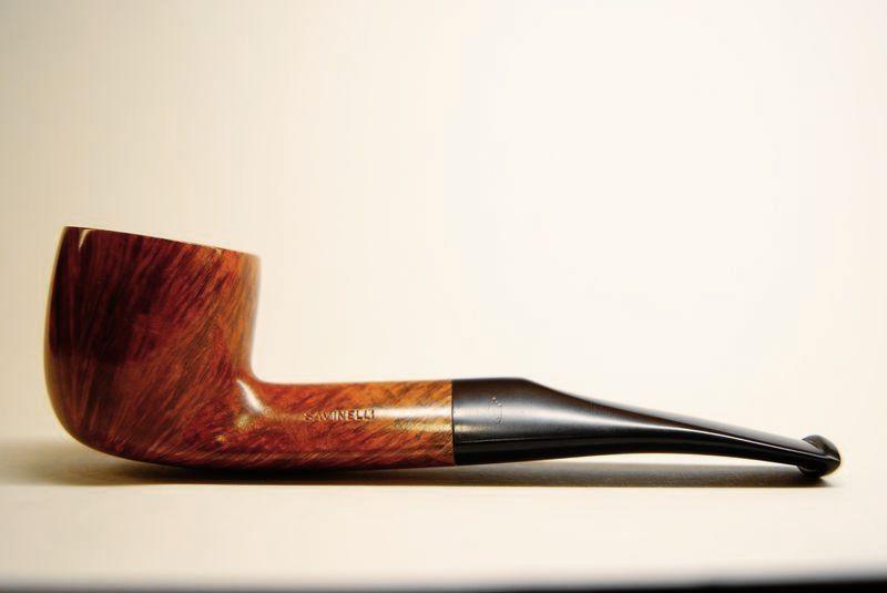 Savinelli : Savinelli 123 liscia quarter bent pot cannello pannel - Tabaccheria Sansone - Pipe Tabacco Sigari - Accessori per fumatori