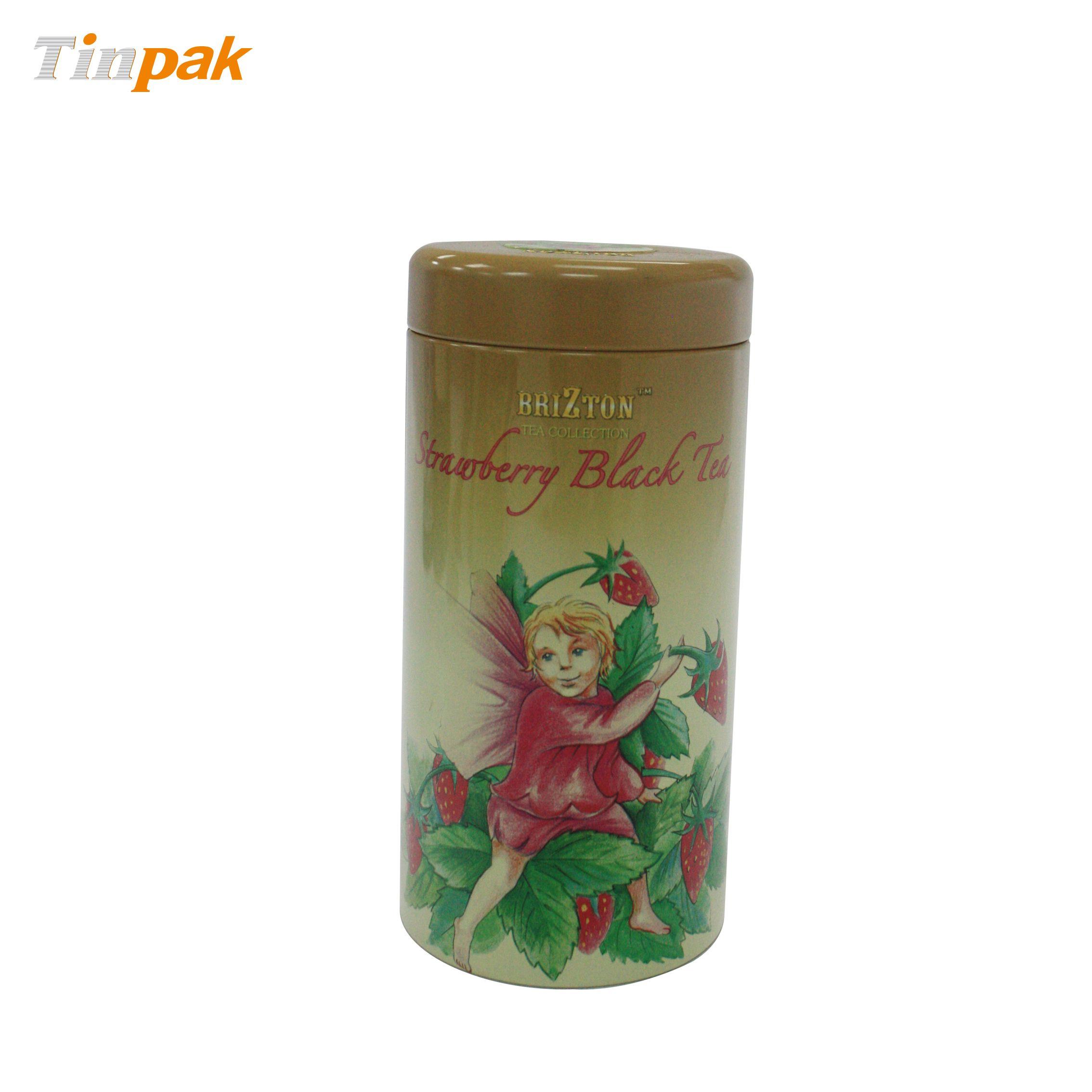 Empty metal tea tin case custom design http://www.tinpak.us/Products/emptymetalteatincase.html