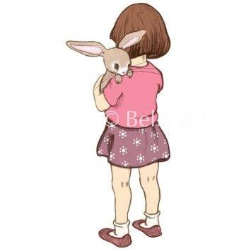 Interiør : Belle Hugs Boo Wall sticker - A3