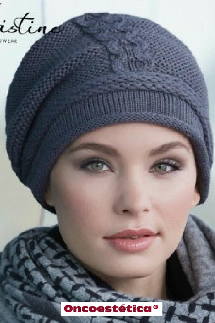 EVIE GRIS - Gorro de punto -Colección Christine Headwear  oncoestetica   esteticaoncologica  vertebienimporta 94ed52daf18