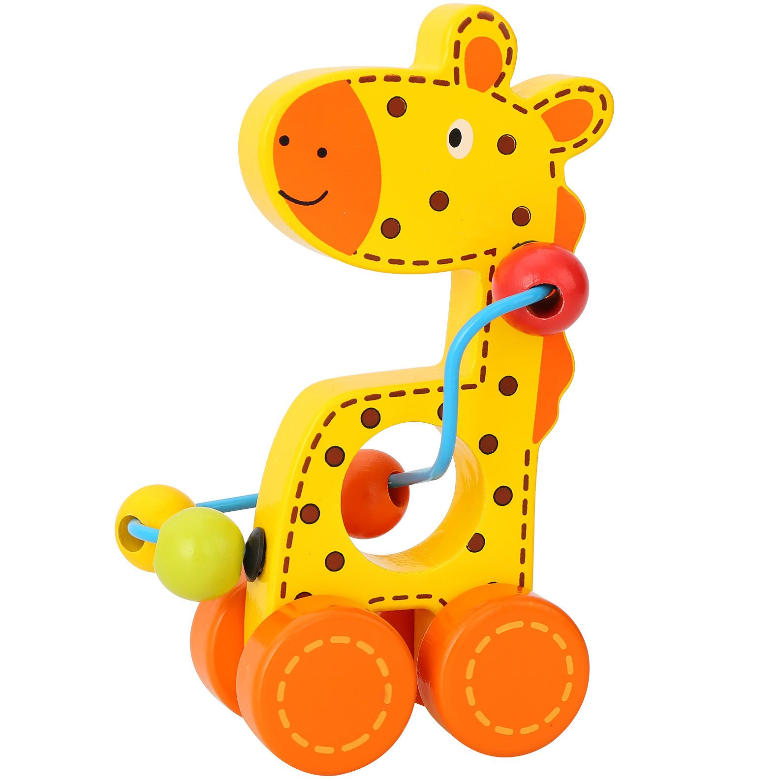 Delightful giraffe push along toy Perfect to help little ones