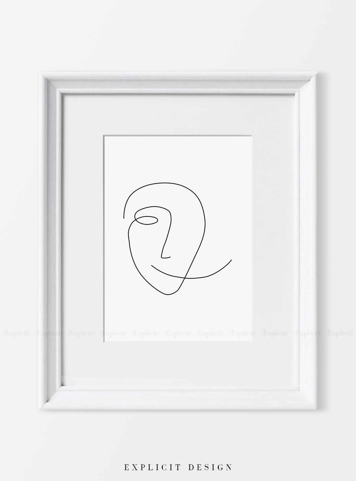 Abstract faces fashion posters modern luxury line art art lessons lovers