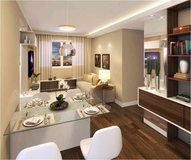 Delante Apartments: 21 Salas Integradas Pequenas Lindas! Veja Como Decorar