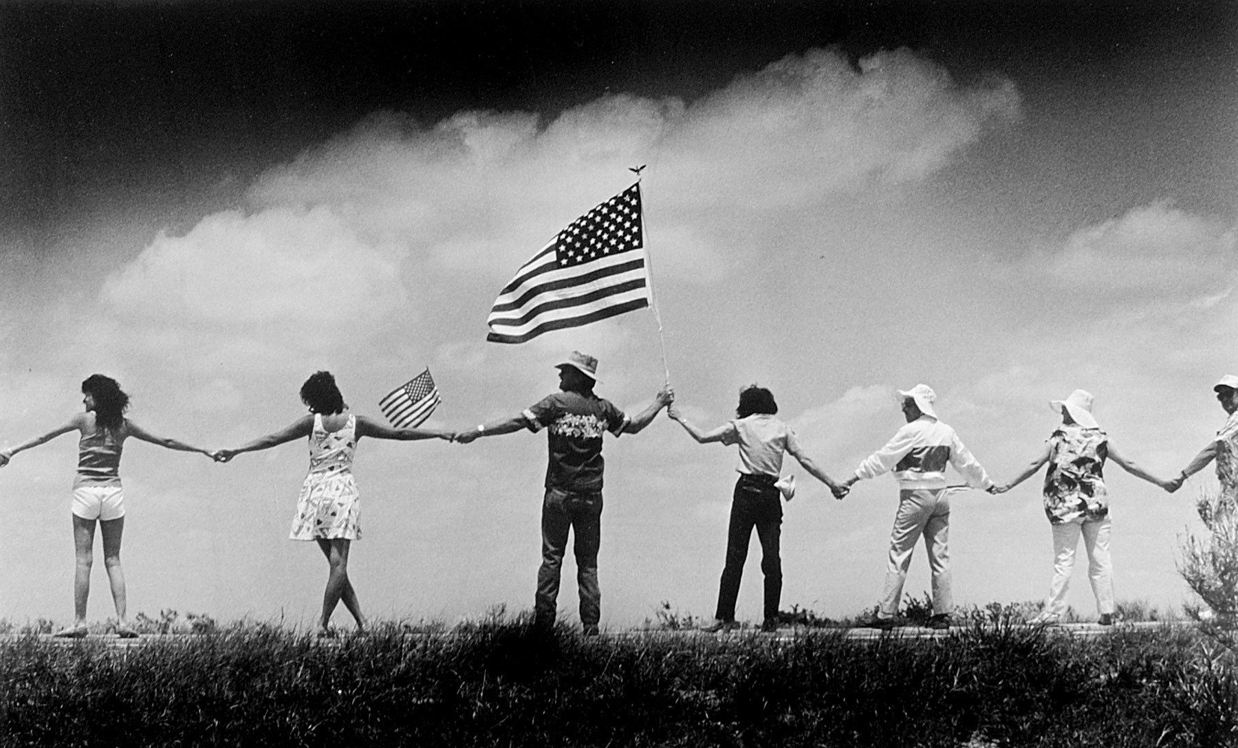 Hands across America Bernie Boston