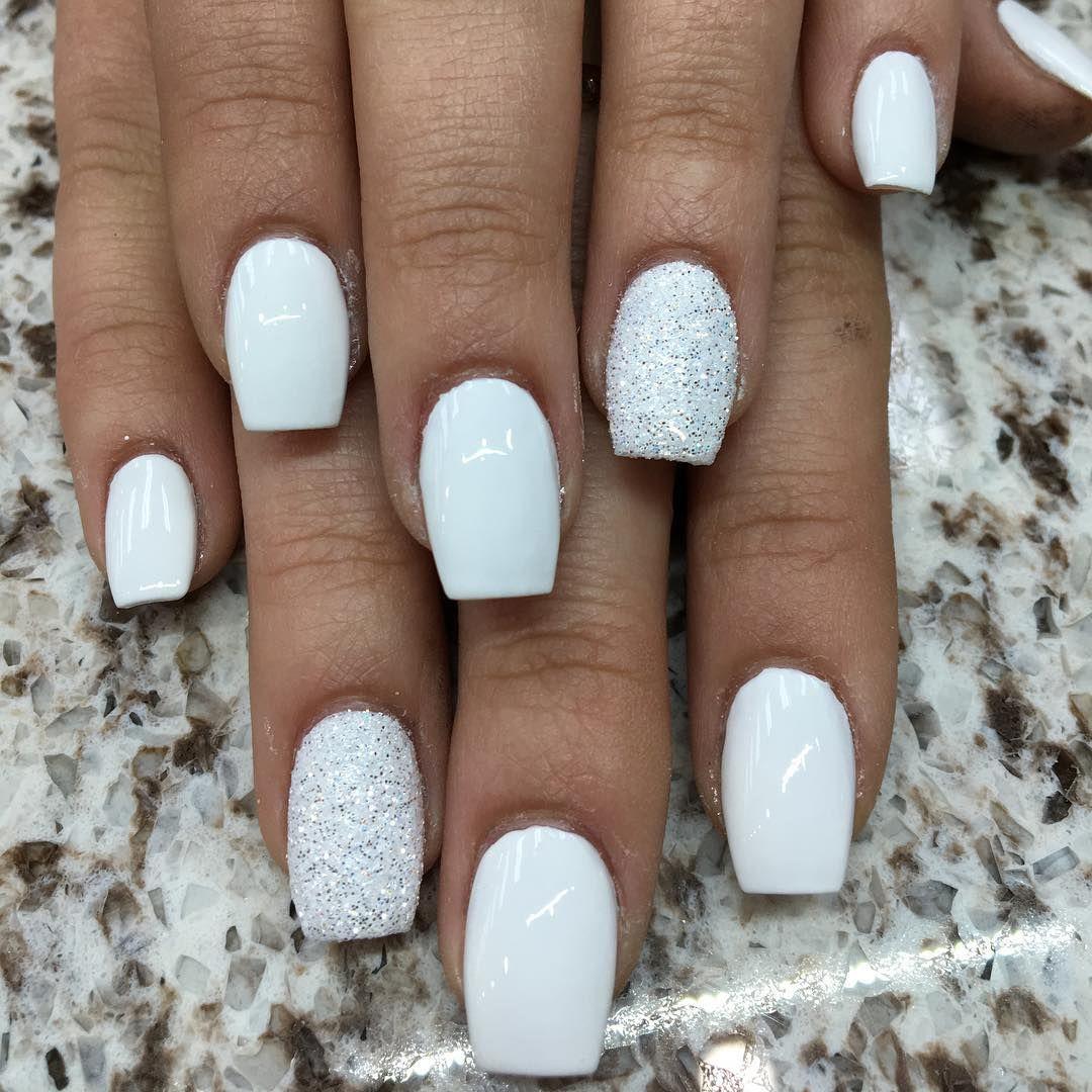 White Gel Nails Gold Gel Nails White Gel Nails Glitter Gel Nails