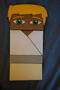 Luke Skywalker Paper Bag Puppet By Alexsandcastle On Deviantart