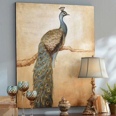Peacock Perch Canvas Art Print | Kirkland's