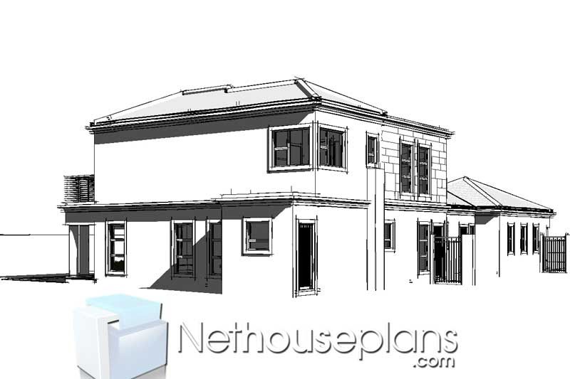 5 Bedroom Double Storey House Plan In South Africa Nethouseplansnethouseplans In 2020 Double Storey House Double Storey House Plans Architectural House Plans
