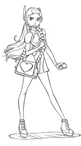 Honey Lemon Superhero Coloring Big Hero 6 Disney Coloring Pages