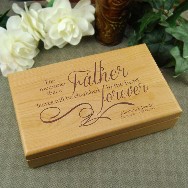 Memories Of Father Keepsake Box Gift Keepsake Boxes