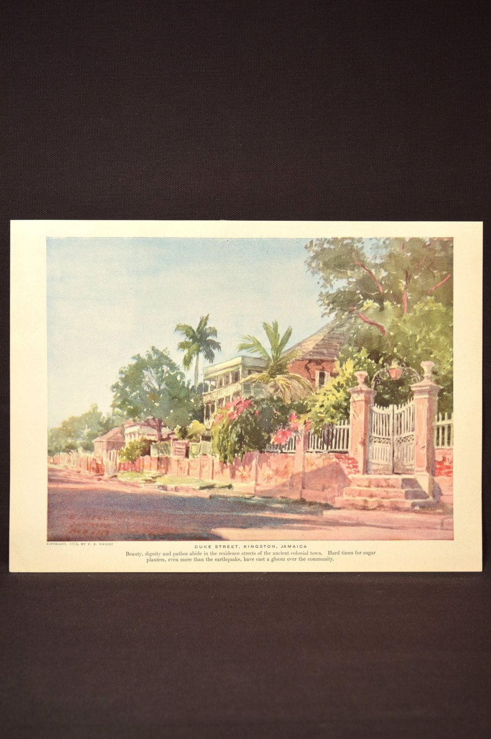 Tropical Wall Art Jamaican Wall Decor Caribbean Landscape Tropical Wall Art Art Wall Art
