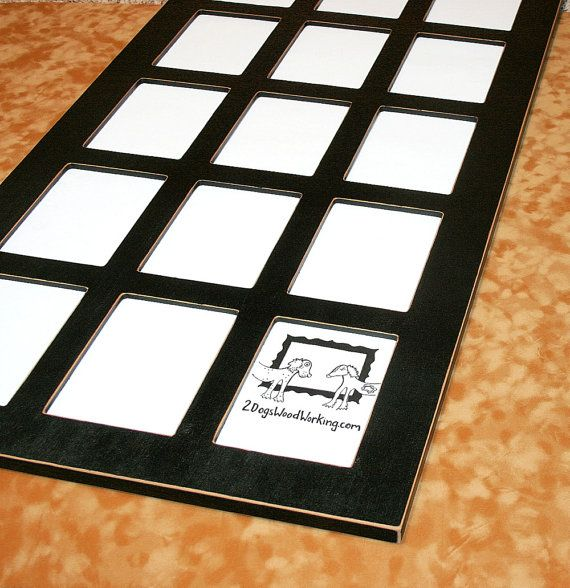 Picture frame collage 18 wallets 2.5 x 3.5 by 2DogsWoodWorking ...