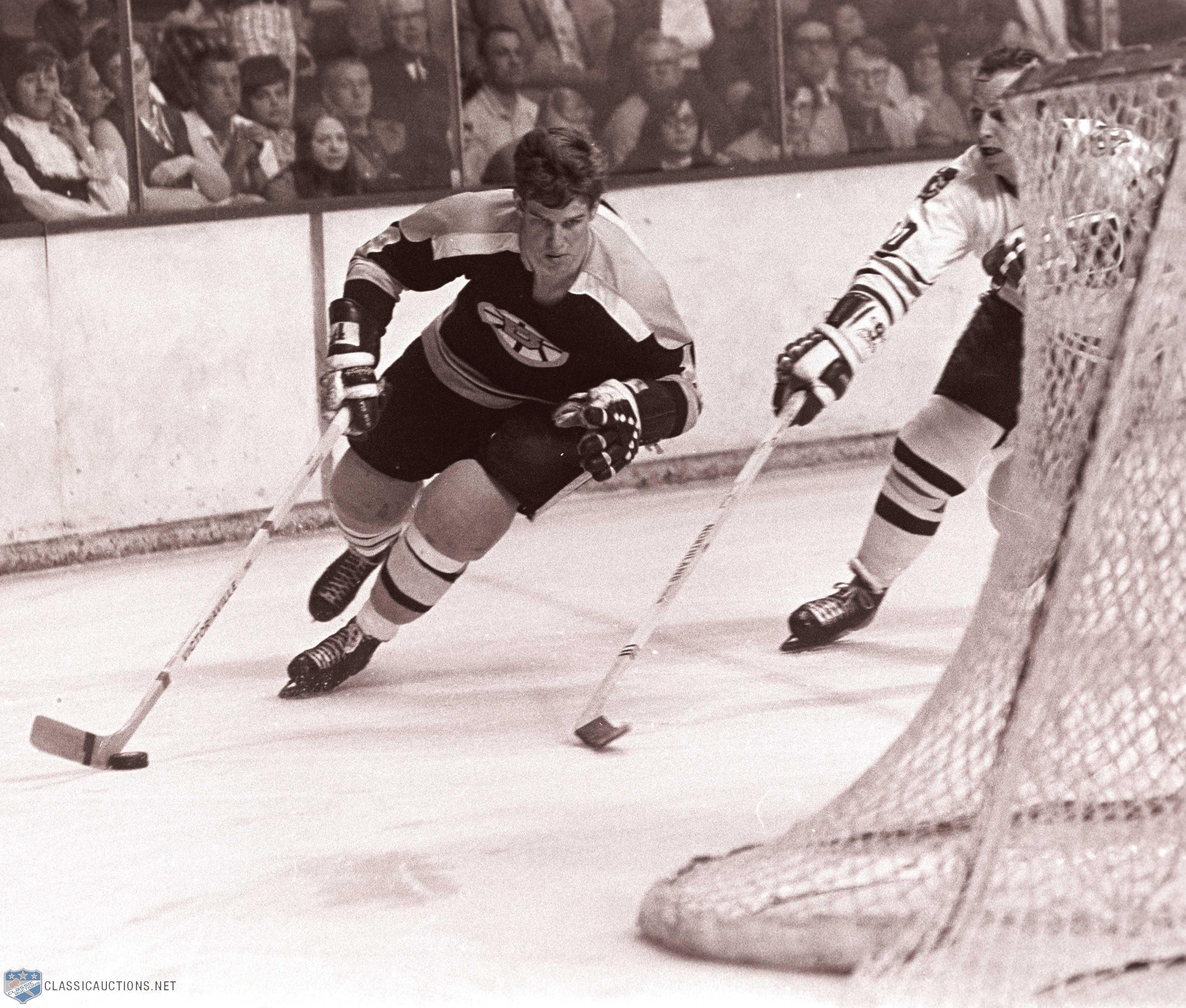 How I Remember His Most Carrying The Puck And Picking Up Speed For An End To End Rush Boston Bruins Hockey Bruins Hockey Bobby Orr
