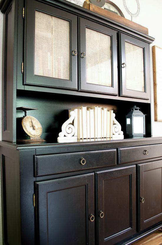 Burlap Cabinet Door Curtains | Home - Fixer Upper Style | Pinterest