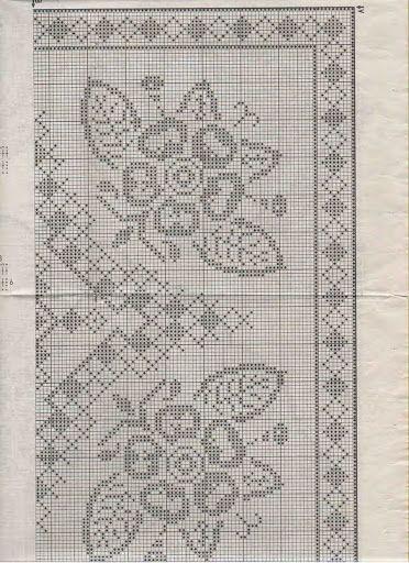 tischdecke eckig bl ten 04 h keln crochet crochet diverses. Black Bedroom Furniture Sets. Home Design Ideas