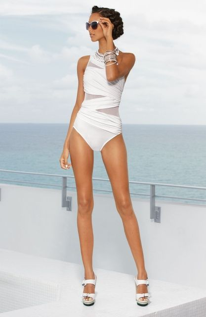76f67c3e1e5 White Swimsuit, One Piece Swimsuit, Glamorous Chic Life, Ensembles Mode