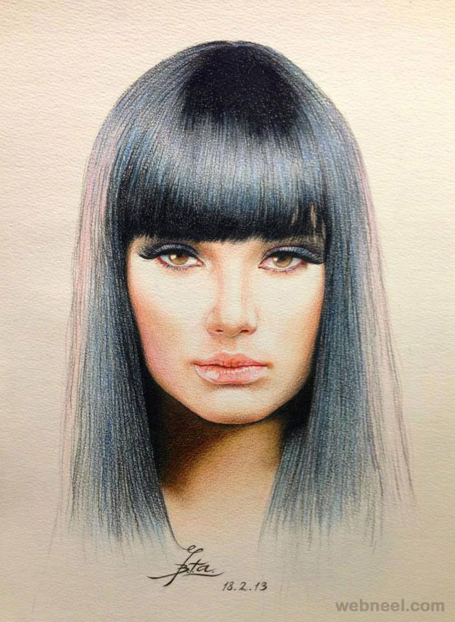 50 Beautiful Color Pencil Drawings from top artists around the ...