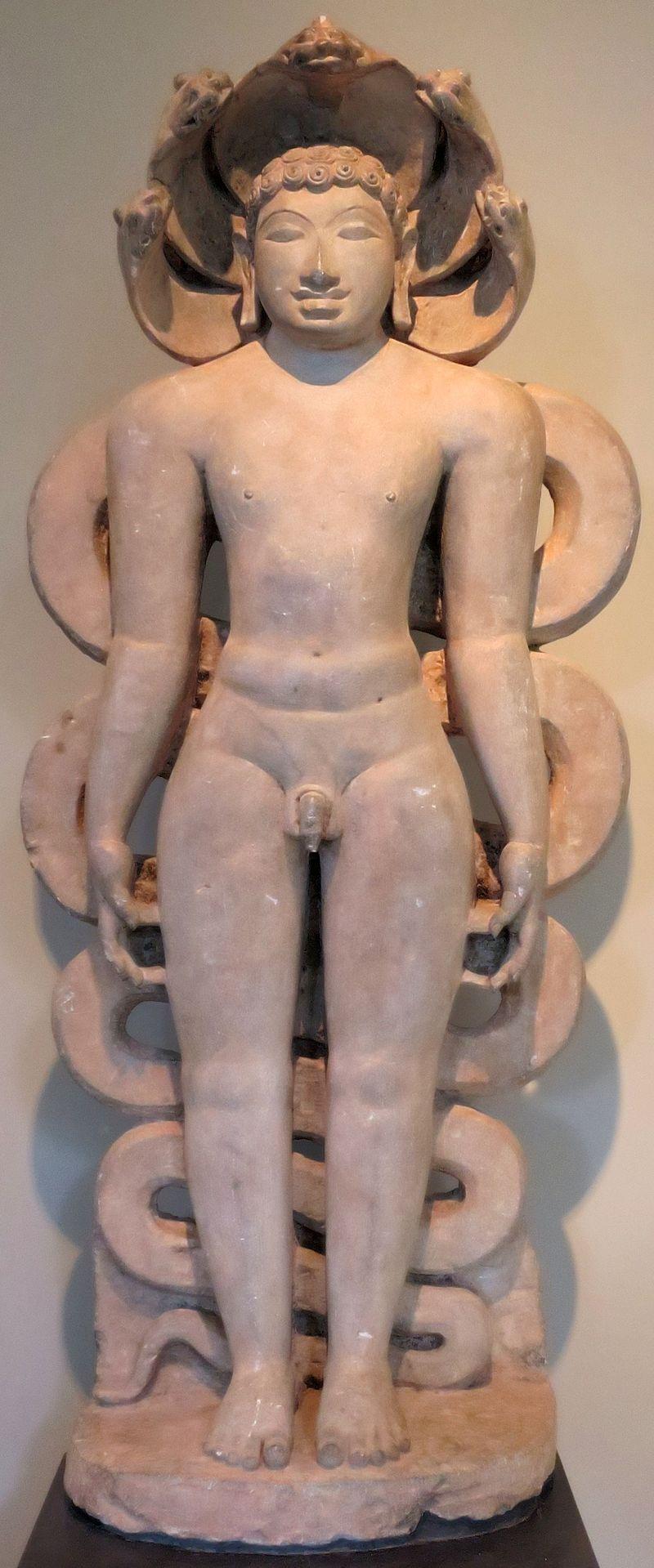 'Jina Suparsvanatha' from Karnataka, c. 900, schist, Norton Simon Museum.JPG