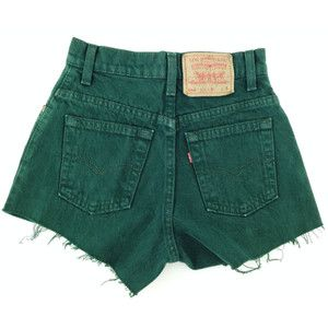 St. Patrick's Day Sale Green High Waisted Shorts levis wrangler ...