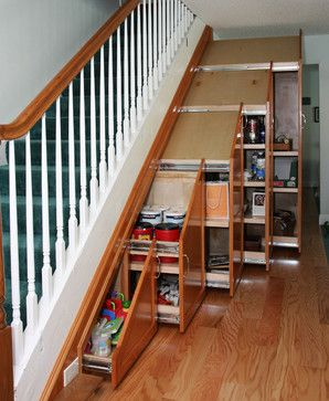Under Stair Storage - Traditional - Staircase - other metro - by Pacific Coast Custom Design